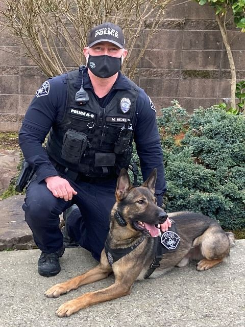 Officer Michel and K9 Tango
