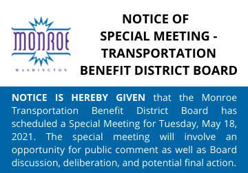 Notice of Special Meeting TBDB 05.18.2021