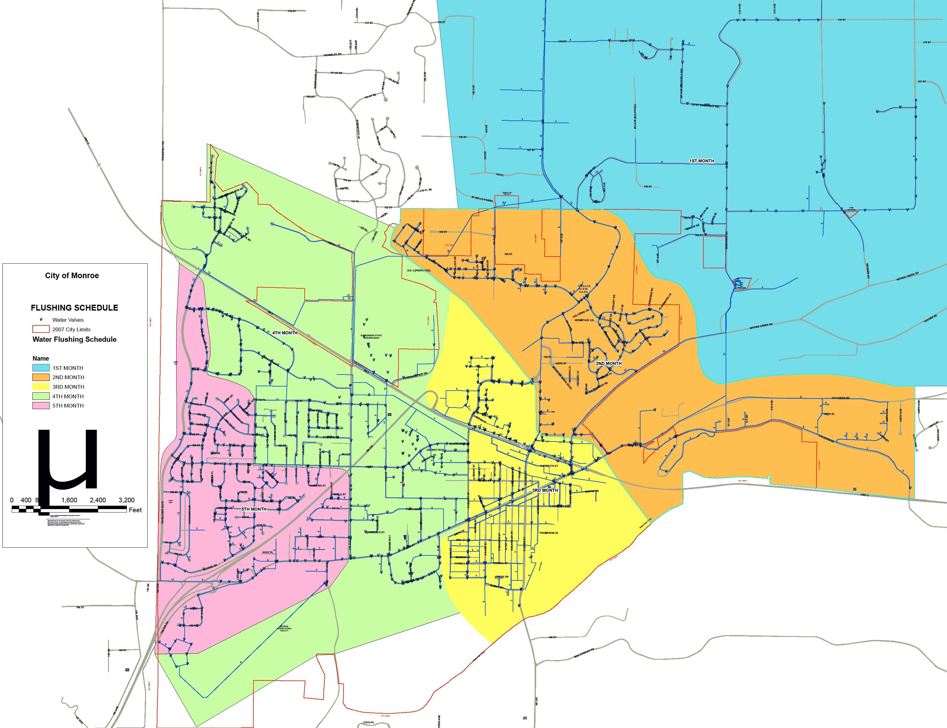 Neighborhood Flushing Map