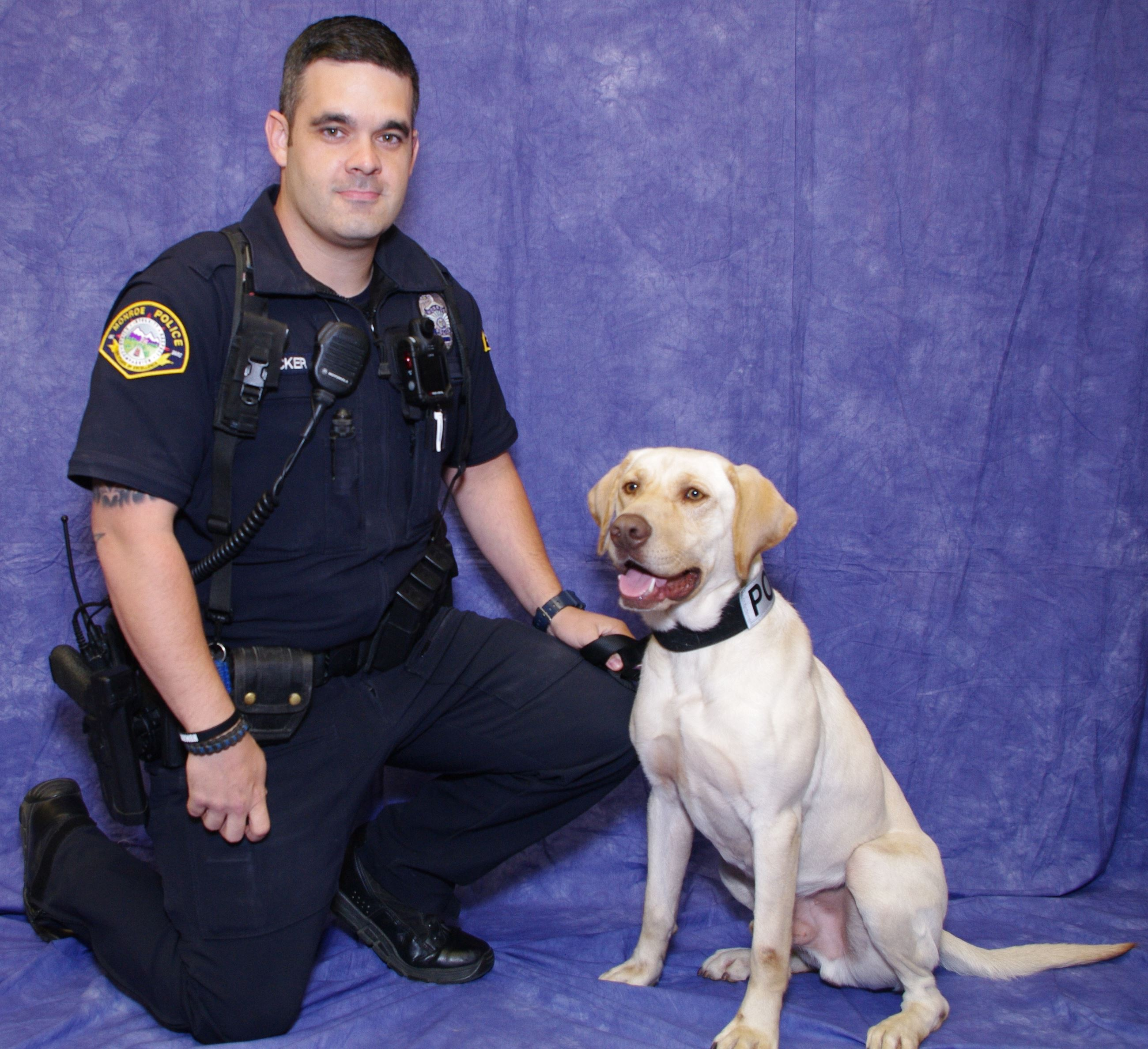 Officer Tucker and K9 Sam