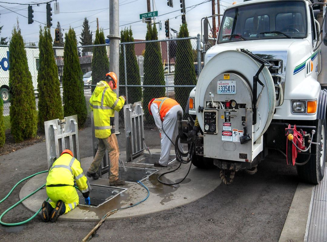 Vactor Cleaning Lift Station