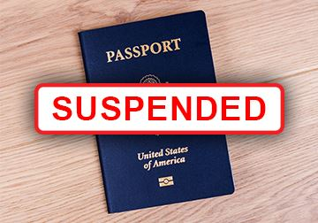 Passport Services Suspended